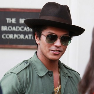 Bruno Mars in Celebrities at The BBC Maida Vale Studios