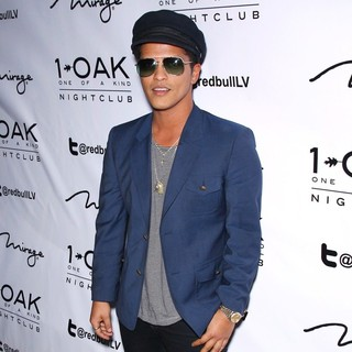 Bruno Mars in Bruno Mars Arrives to Perform Live at Debut of One of A Kind Tuesdays