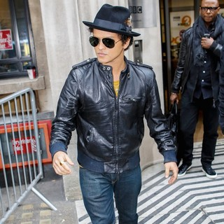 Bruno Mars in Bruno Mars Outside BBC Radio 2