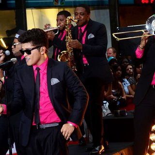 Bruno Mars in Bruno Mars Performing Live as Part of The Today Show Concert Series