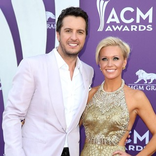 Luke Bryan, Caroline Bryan in 48th Annual ACM Awards - Arrivals