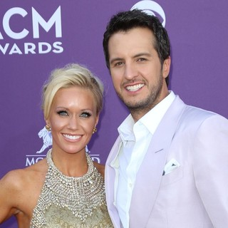 Caroline Bryan, Luke Bryan in 48th Annual ACM Awards - Arrivals