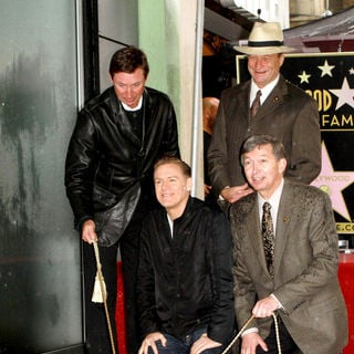 Wayne Gretzky, Bryan Adams, Leron Gubler in Bryan Adams Receives The 2,435th Star on The Hollywood Walk of Fame