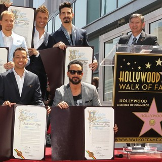 Backstreet Boys, Leron Gubler in Backstreet Boys Are Honoured with A Hollywood Star on The Hollywood Walk of Fame