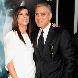 George Clooney in New York Premiere of Gravity - Arrivals - bullock-clooney-premiere-gravity-01