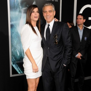George Clooney in New York Premiere of Gravity - Arrivals - bullock-clooney-premiere-gravity-02