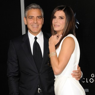George Clooney in New York Premiere of Gravity - Arrivals - bullock-clooney-premiere-gravity-03