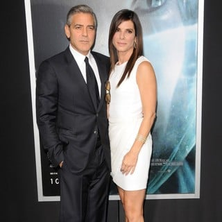 George Clooney in New York Premiere of Gravity - Arrivals - bullock-clooney-premiere-gravity-04