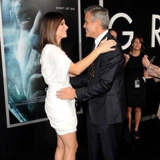 George Clooney in New York Premiere of Gravity - Arrivals - bullock-clooney-premiere-gravity-05