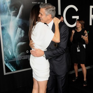 George Clooney in New York Premiere of Gravity - Arrivals - bullock-clooney-premiere-gravity-06