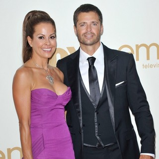 Brooke Burke, David Charvet in The 63rd Primetime Emmy Awards - Arrivals