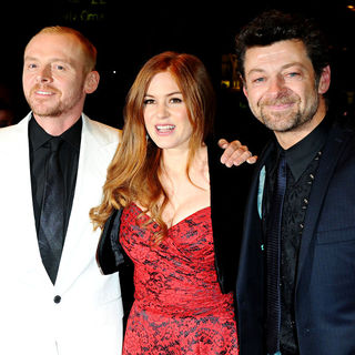 Simon Pegg, Isla Fisher, Andy Serkis in World Premiere of 'Burke and Hare' - Arrivals