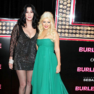 "Cher, Christina Aguilera in Los Angeles Premiere of ""Burlesque"""