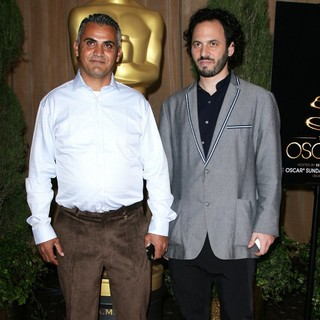 Emad Burnat, Guy Davidi in 85th Academy Awards Nominees Luncheon