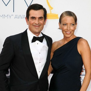 Ty Burrell, Holly Burrell in 64th Annual Primetime Emmy Awards - Arrivals