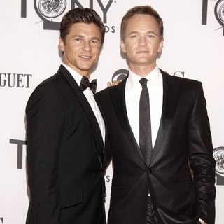 David Burtka, Neil Patrick Harris in The 66th Annual Tony Awards - Arrivals