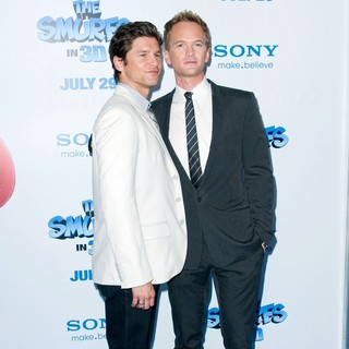David Burtka, Neil Patrick Harris in The Smurfs World Premiere - Arrivals