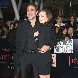 Jeffrey Dean Morgan, Hilarie Burton in The Twilight Saga's Breaking Dawn Part I World Premiere