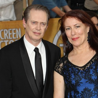 Steve Buscemi, Jo Andres in The 20th Annual Screen Actors Guild Awards - Arrivals