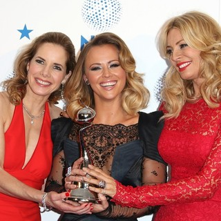 Darcey Bussell, Kimberley Walsh, Tess Daly in National Television Awards 2013 - Press Room