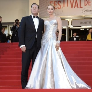 Arpad Busson, Uma Thurman in 66th Cannes Film Festival - Zulu - Premiere