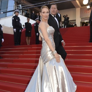 Uma Thurman, Arpad Busson in 66th Cannes Film Festival - Zulu - Premiere