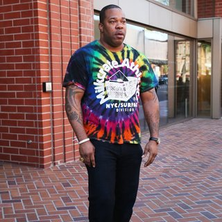 Busta Rhymes in Busta Rhymes Spotted at HSBC Bank