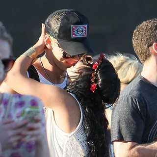 Austin Butler, Vanessa Hudgens in Celebrities at The 2012 Coachella Valley Music and Arts Festival - Day 3