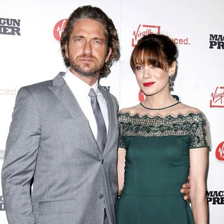 Gerard Butler, Michelle Monaghan in Machine Gun Preacher Los Angeles Premiere