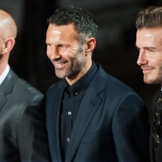 Nicky Butt, Ryan Giggs, David Beckham in The World Premiere of The Class of 92 - Arrivals