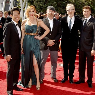 Grant Imahara, Kari Byron, Jamie Hyneman, Adam Savage, Tory Belleci in 2011 Primetime Creative Arts Emmy Awards - Arrivals