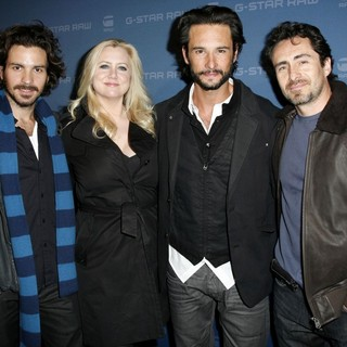 Santiago Cabrera, Laura Bickford, Rodrigo Santoro, Demian Bichir in Mercedes-Benz IMG New York Fashion Week Fall 2009 - G-Star - Inside Arrivals