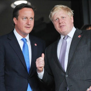 David Cameron, Boris Johnson in The Opening Ceremony of The London 2012 Olympic Games