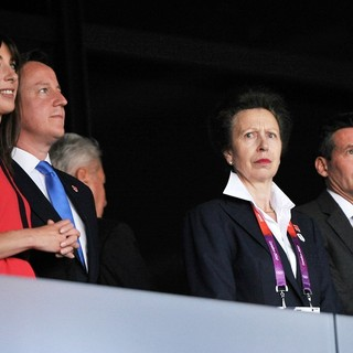 David Cameron, Samantha Cameron, Princess Anne in The Opening Ceremony of The London 2012 Olympic Games