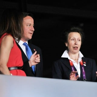 Samantha Cameron, David Cameron, Princess Anne in The Opening Ceremony of The London 2012 Olympic Games