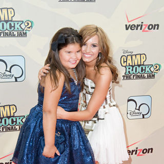 Madison De La Garza, Demi Lovato in World Premiere of 'Camp Rock 2: The Final Jam'