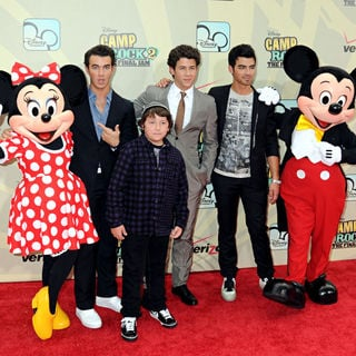 Jonas Brothers, Kevin Jonas, Frankie Jonas, Nick Jonas, Joe Jonas in World Premiere of 'Camp Rock 2: The Final Jam'