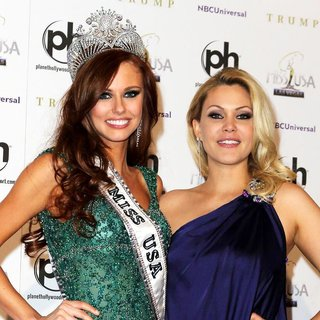 Alyssa Campanella, Shanna Moakler in 2011 Miss USA Press Conference
