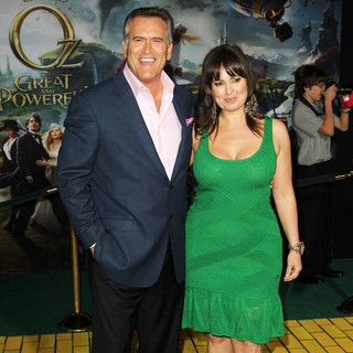 Bruce Campbell, Ida Gearon in Oz: The Great and Powerful - Los Angeles Premiere - Arrivals