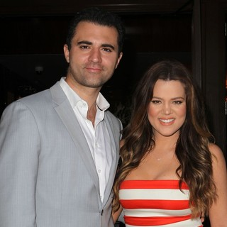 Darius Campbell, Khloe Kardashian in Khloe Kardashian Celebrates The Launch of HPNOTIQ Liqueur's Glam Louder Program