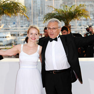 Frida Kempff, Serge Avedikian in 2010 Cannes International Film Festival - Day 12 - Palme d'Or Closing Ceremony Red Carpet Arrivals