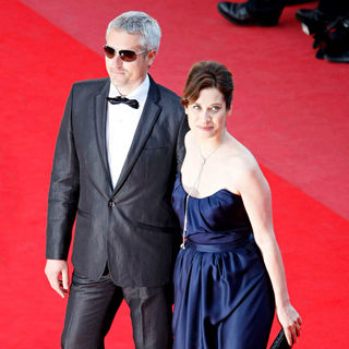 Marc Recha, Emmanuelle Devos in 2010 Cannes International Film Festival - Day 12 - Palme d'Or Closing Ceremony Red Carpet Arrivals