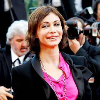 Emmanuelle Beart in 2010 Cannes International Film Festival - Day 12 - Palme d'Or Closing Ceremony Red Carpet Arrivals