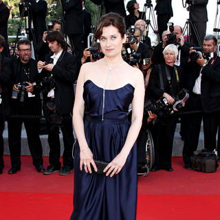 Emmanuelle Devos in 2010 Cannes International Film Festival - Day 12 - Palme d'Or Closing Ceremony Red Carpet Arrivals