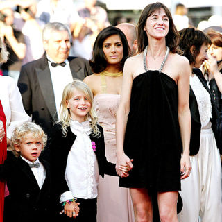 Charlotte Gainsbourg, Salma Hayek in 2010 Cannes International Film Festival - Day 12 - Palme d'Or Closing Ceremony Red Carpet Arrivals