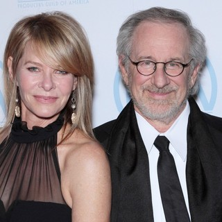 Kate Capshaw, Steven Spielberg in The 23rd Annual Producers Guild Awards - Arrivals