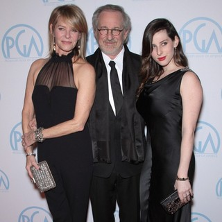 Kate Capshaw, Steven Spielberg, Sasha Spielberg in The 23rd Annual Producers Guild Awards - Arrivals