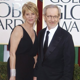 Kate Capshaw, Steven Spielberg in 70th Annual Golden Globe Awards - Arrivals