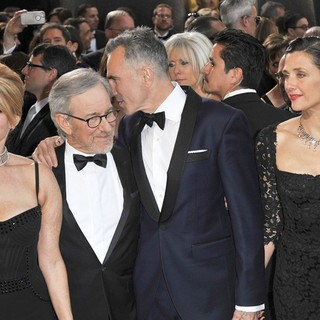 Kate Capshaw, Steven Spielberg, Daniel Day-Lewis, Rebecca Miller in The 85th Annual Oscars - Red Carpet Arrivals