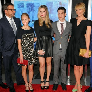 Steve Carell, AnnaSophia Robb, Zoe Levin, Liam James, Toni Collette in New York Premiere of The Way, Way Back - Arrivals